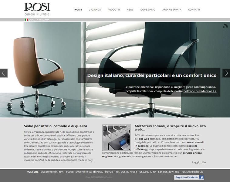 Produzione Sedie Ufficio.Nuovo Sito Web Per Le Sedie Da Ufficio Rosi Webag