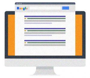 Icona SEO serp google