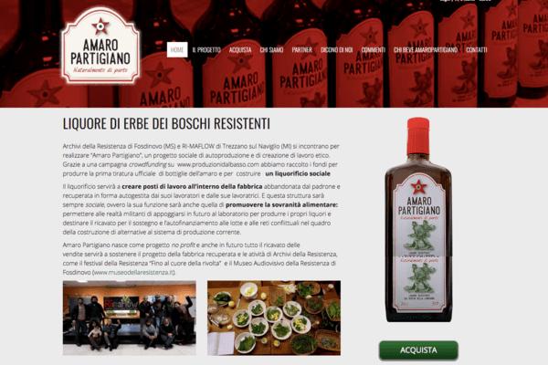 il sito web di Amaro Partigiano