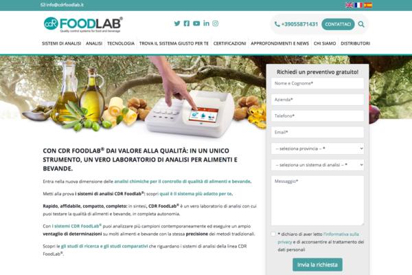 sito web di CDR FoodLab