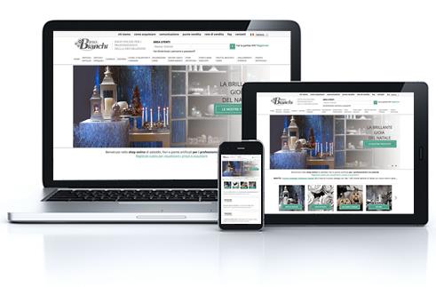 Restyling sito dino bianchi decorazioni e articoli for Arredatori online
